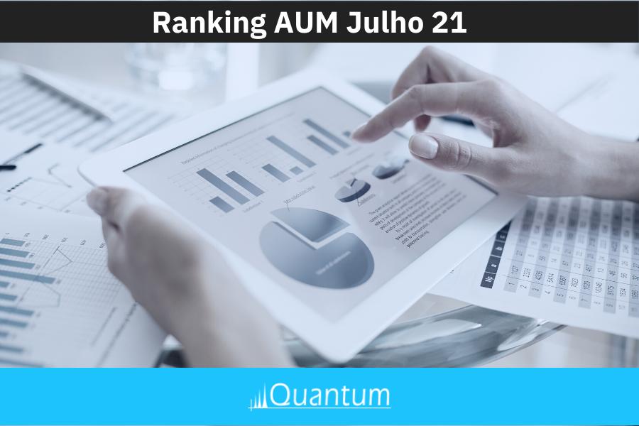 Ranking Asset Under Management e Captação CAPA Julho 21