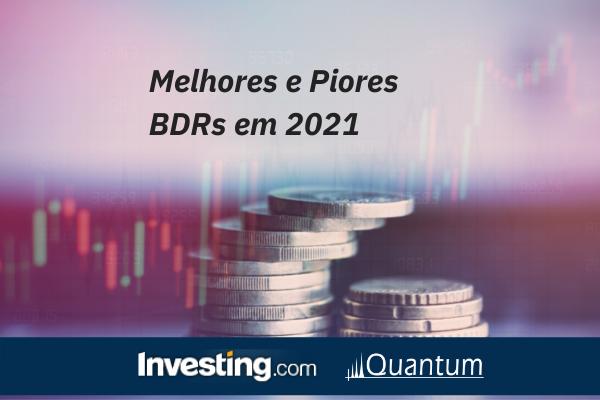 Melhores e piores BDRs 2021 - Investing.com e Quantum